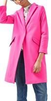 Topshop Petite Women's Neon Wool Blend Coat