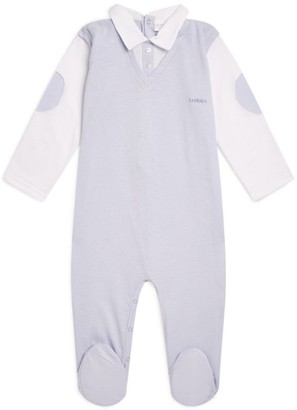 La Perla Kids Logo Lace Embroidered All-In-One (1-12 Months)