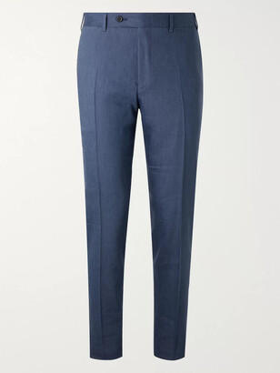 Canali Kei Slim-Fit Linen And Wool-Blend Suit Trousers