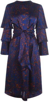 Biba Silk Tie Waist Dress