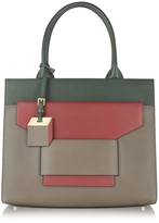 Pierre Hardy Jane Army and Red Leather Tote
