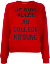 MAISON KITSUNÉ je suis allée sweatshirt - women - Cotton - L