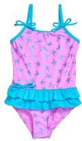 Hula Star Girl's Starfish One-Piece Swimsuit