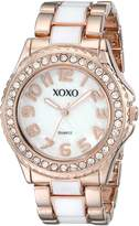XOXO Women's XO5472 Rose Gold with Epoxy Analog Bracelet Watch