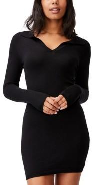 Cotton On Women's Nicola Knit Polo Mini Dress