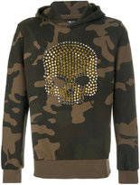 Hydrogen studded camouflage hoodie