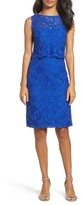 Ellen Tracy Women's Lace Popover Dress