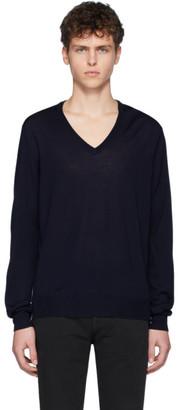 Maison Margiela Navy Spliced Sweater