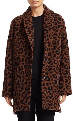 Derek Lam Leopard-Print Cocoon Coat