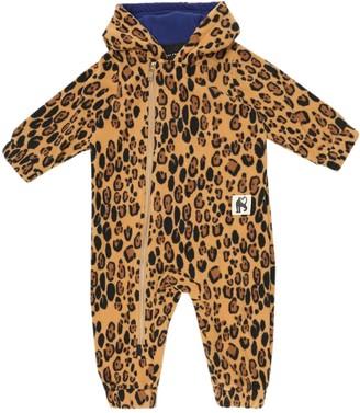 Mini Rodini Baby Leopard fleece onesie
