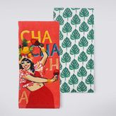 "Celebrate Summer Together ""Cha Cha Cha"" Kitchen Towel 2-pk."
