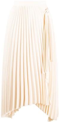 Calvin Klein Asymmetric Pleated Skirt