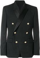 Balmain double-breasted bib blazer - men - Silk/Cotton/Polyester/Wool - 48