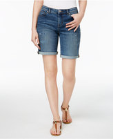 Style&Co. Style & Co Style & Co Petite Distressed Cuffed Denim Shorts, Created for Macy's