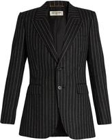Saint Laurent Pinstriped flannel-wool jacket