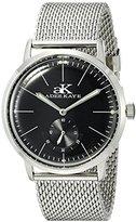 Adee Kaye Men's AK9044N-M/BK Vintage Slim Analog Display Mechanical Hand Wind Silver Watch