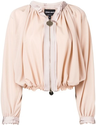 Giorgio Armani Cropped Jacket With Ruched Design