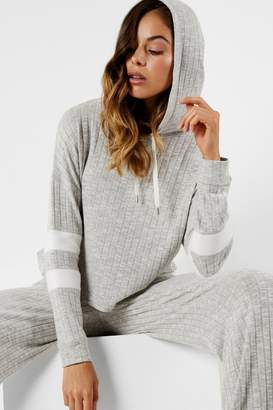 Micha Lounge Jersey cropped grey hoodie