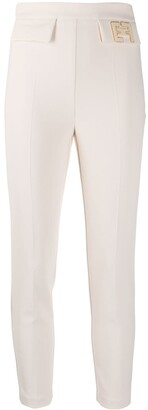 Elisabetta Franchi Logo Cropped Trousers