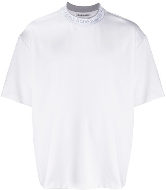 Acne Studios logo-neck oversized T-shirt