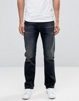 Diesel Waykee Straight Jeans 858J Washed Black Distressed