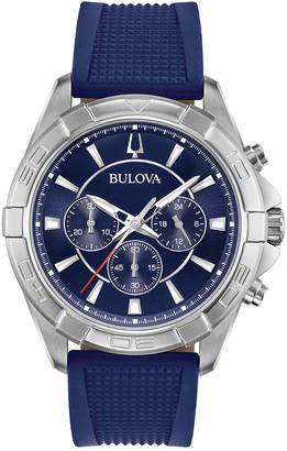 Bulova Men's Quartz Analog Interchangeable Strap Watch, 43mm