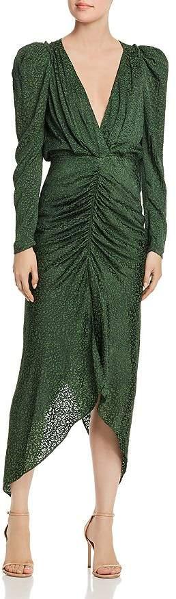 Ronny Kobo Astrid V-Neck Animal-Print Dress