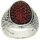 Scott Kay 1.40 cttw Pave' Garnet Guardian Angel Sterling Ring