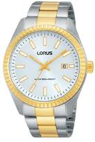 Lorus Gents Watch XL Analogue Quartz Stainless Steel Classic Coated RH996DX9