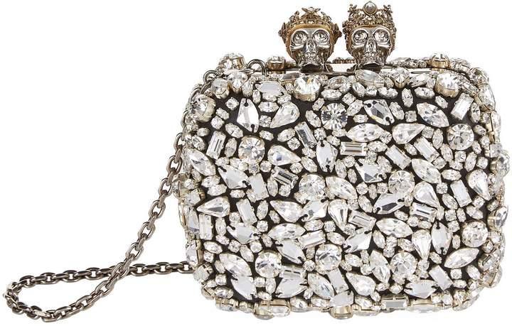 Alexander McQueen Mini Queen & King Embellished Clutch