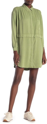On The Road Arya Woven Patch Pocket Shirt Dress