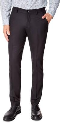 Good Man Brand Flat Front Solid Wool Dress Pants