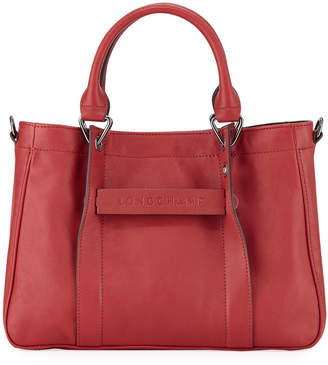 Longchamp Small 3D Calf Leather Tote Bag
