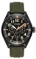 Citizen Chandler Eco-Drive Analog Military Cordura Fabric Strap Watch