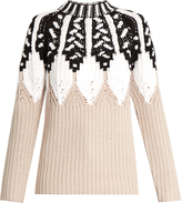 Peter Pilotto Round-neck intarsia-knit wool-blend sweater
