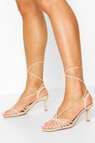 boohoo Multi Strap Low Heel Sandals
