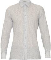 Bottega Veneta Striped Button-cuff Cotton Shirt