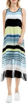 Vince Camuto Petite Women's Stripe Harmony A-Line Dress