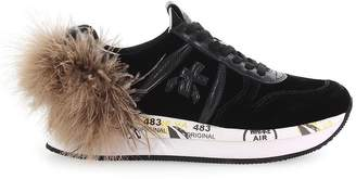 Premiata Holly 3388 Black And Grey Sneaker With Feather