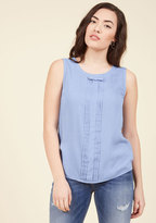 ModCloth Hometown Hangout Sleeveless Top in Periwinkle in 2X