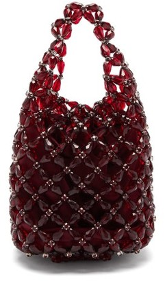 Simone Rocha Beaded-net Bag - Burgundy