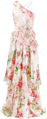 Philipp Plein floral day dress