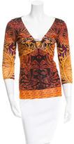 Roberto Cavalli Printed Pullover Top