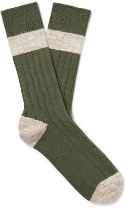 Melange Home The Workers Club Cotton-Blend Socks