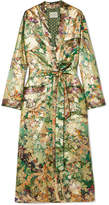 Etro Silk-blend Jacquard Jacket - Green