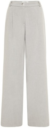 Allora Becker Wide Leg Pant - Sport Luxe In Soft Grey