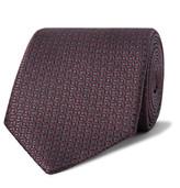 Ermenegildo Zegna 8cm Silk-jacquard Tie - Burgundy