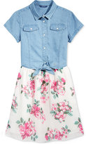 GUESS Denim Combo Dress, Big Girls (7-16)