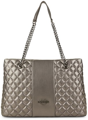 Love Moschino Quilted Metallic Faux Leather Handbag