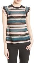 M Missoni Women's Metallic Lace Ribbon Top